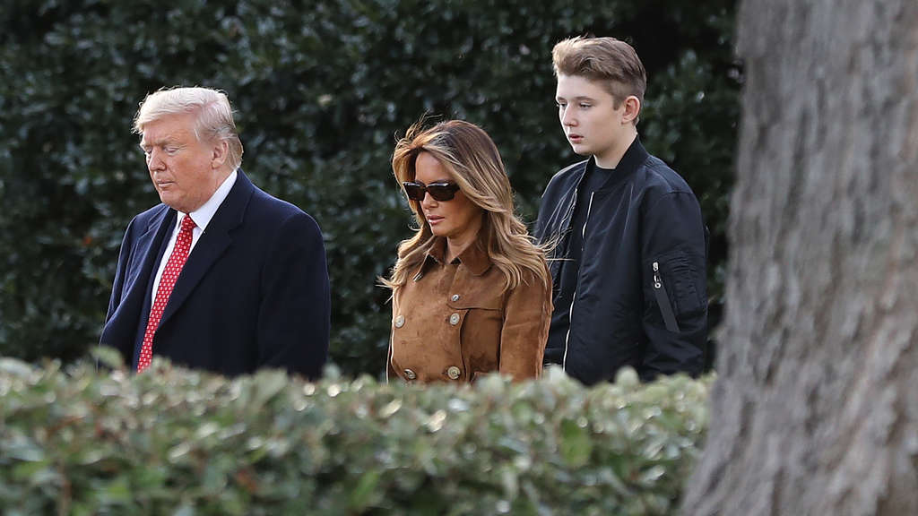 President Trump And First Lady Melania Depart White House En Route To Florida
